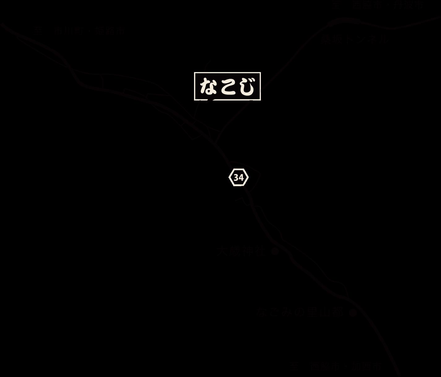 なこじへの地図
